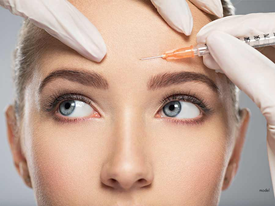 Model: Woman getting Injectable Treatment